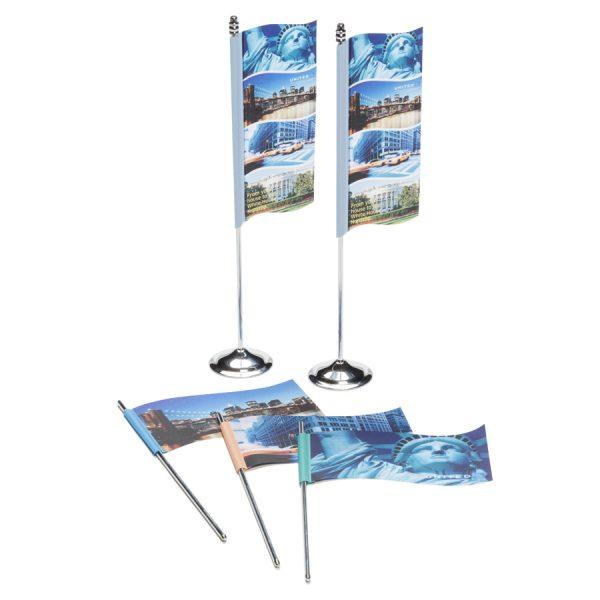 Bedrukte tafelvlaggen Wave