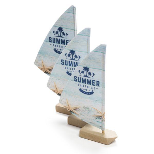 Mini zeilboot tafelvlag