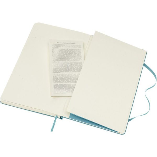 Moleskine Classic Hard Cover Large Gelinieerd Wit Open XIMA