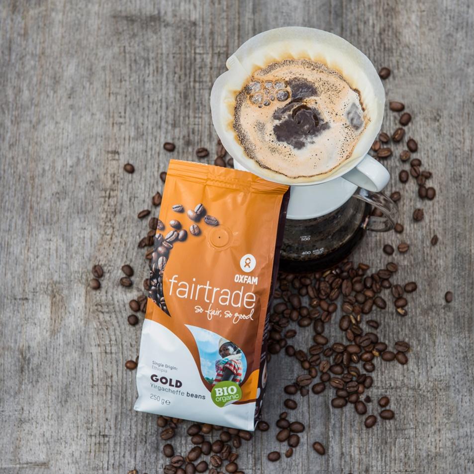 Oxfam eerlijke koffiebonen uit Ethiopië