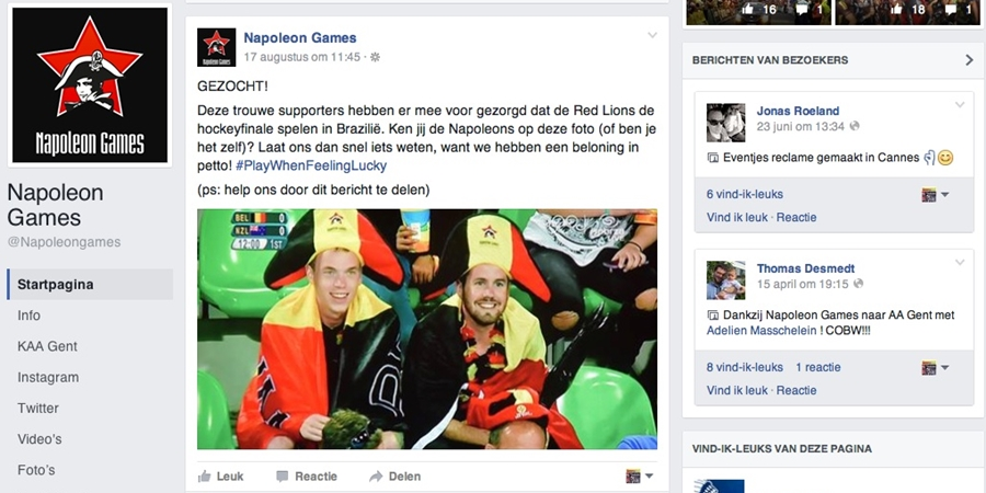 Napoleongames Facebook