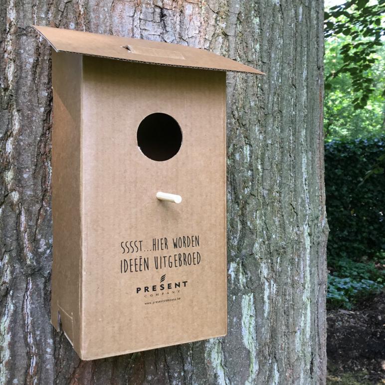 verzendbaar vogelhuisje