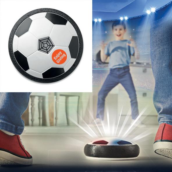 Bedrukte zwevende voetbal met kleurrijke LED lampjes