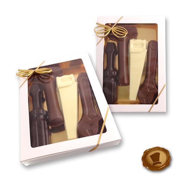 Chocolade Gereedschap in geschenkdoosjes