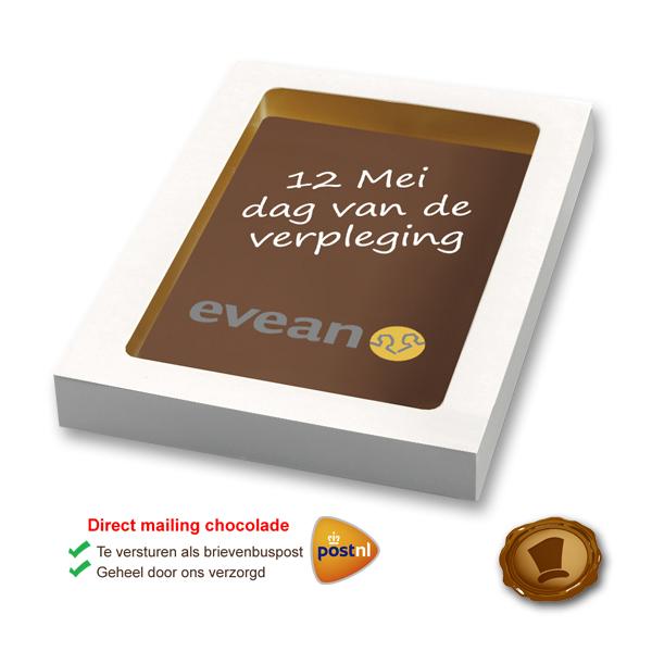 Bedrukte chocolade kaart