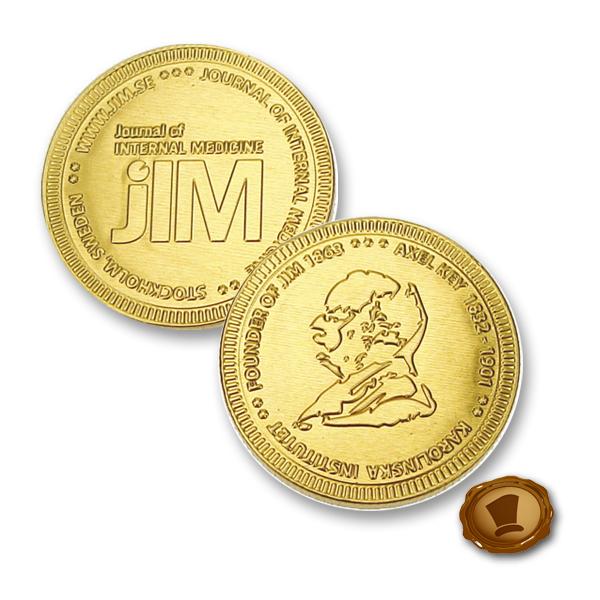 Chocolade munten 38mm met logo