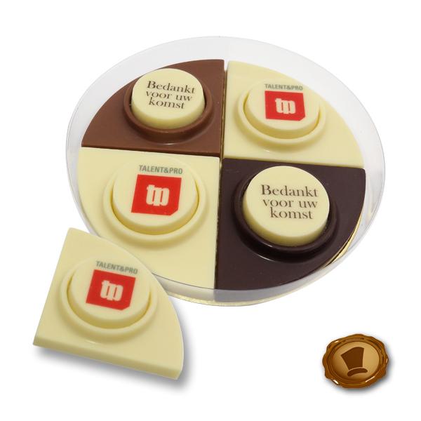 Chocolade Puntjes met bedrukking