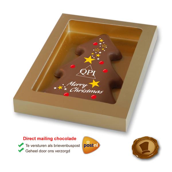 Bedrukte Chocolade Kerstboom tablet