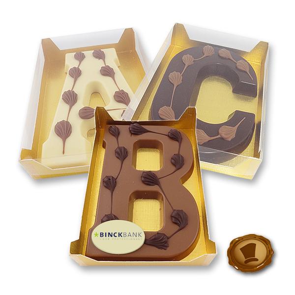 Luxe Chocolade Vormletter met logo