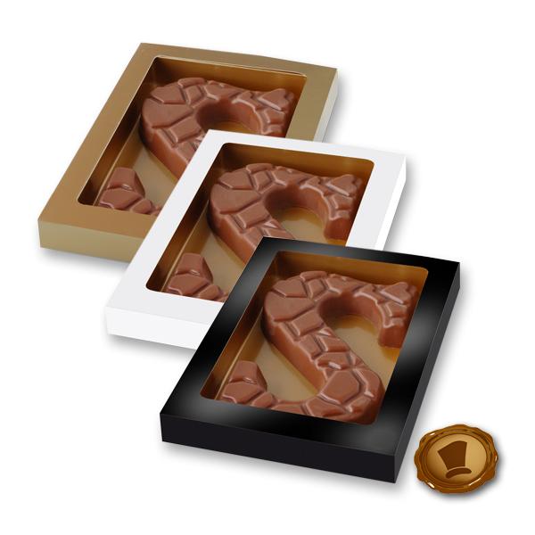 Chocoladeletter 135 gram - Schildpadmotief