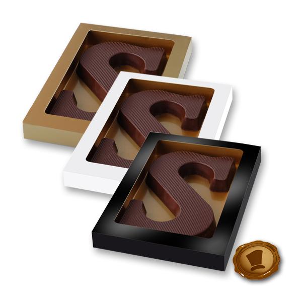 Chocoladeletter 135 gram - Streepmotief