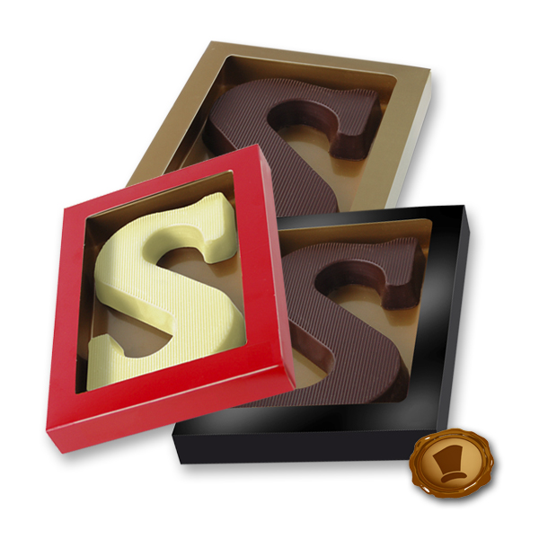 Chocoladeletter 175 gram Streepmotief
