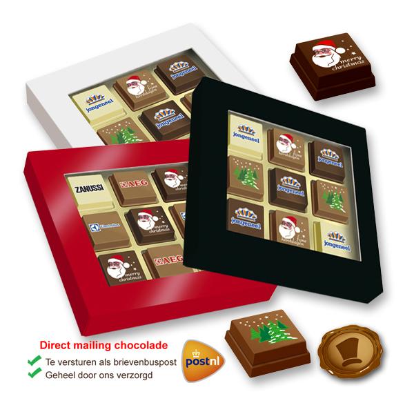 Premium Kerst Pralines 9 stuks met logo