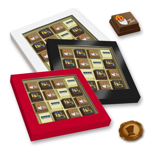 Premium Sint Pralines 16 stuks met logo