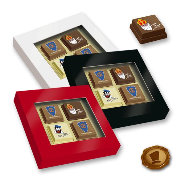 Premium Sint Pralines 4 stuks met logo