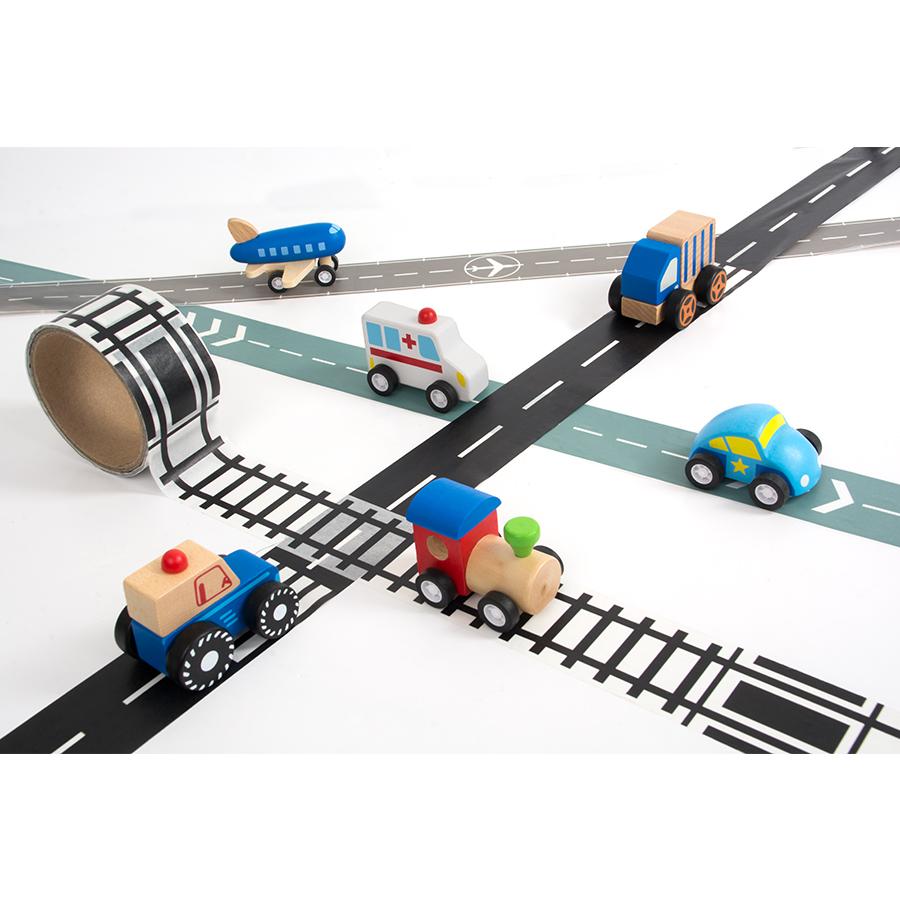 Ruban route et petites voitures
