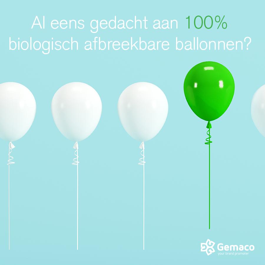 Ecologisch afbreekbare ballonnen met logo