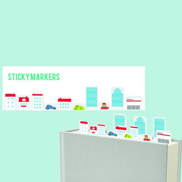 Custom made sticky page markers