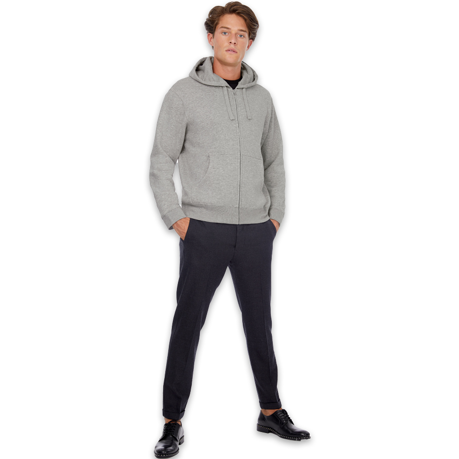Sweatshirt-Hooded-Full-Zip-280gm²