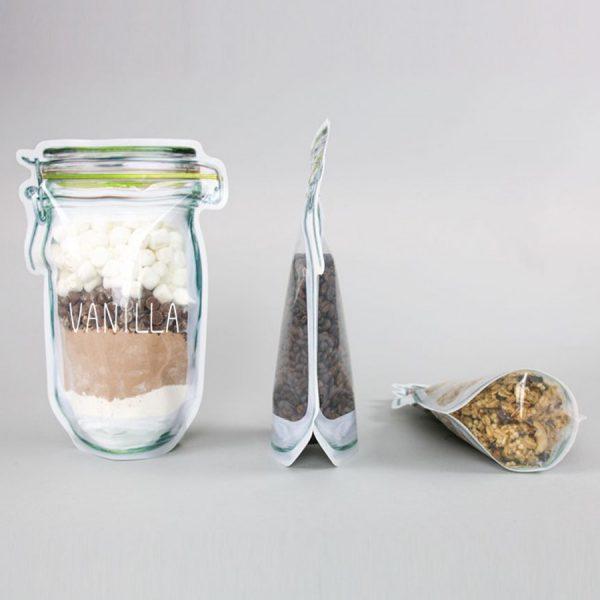 Custom made transparante food bags
