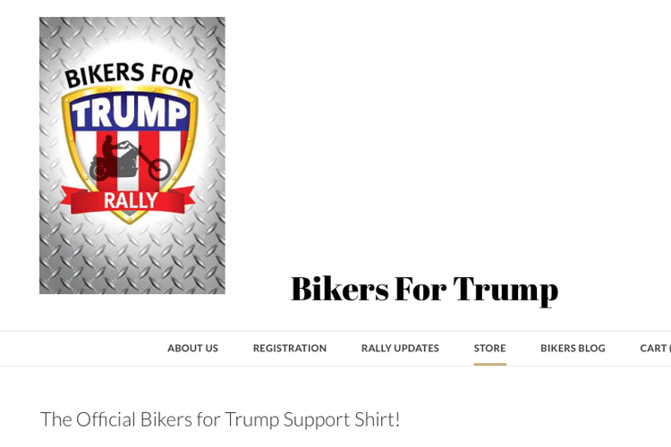 USA Bikers for Trump en Haïtiaanse T-shirts