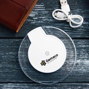 Wireless charger met logo