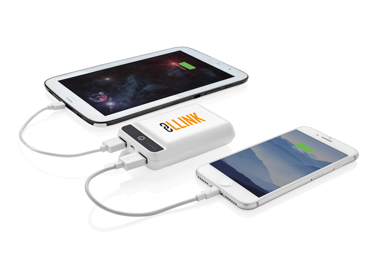 10.000 mAh powerbank in zakformaat
