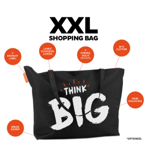 XXL ShoppingBag Forever BIG Zwart XIMA