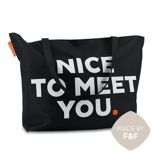 XXL ShoppingBag Forever Nice To Meet You Zwart XIMA