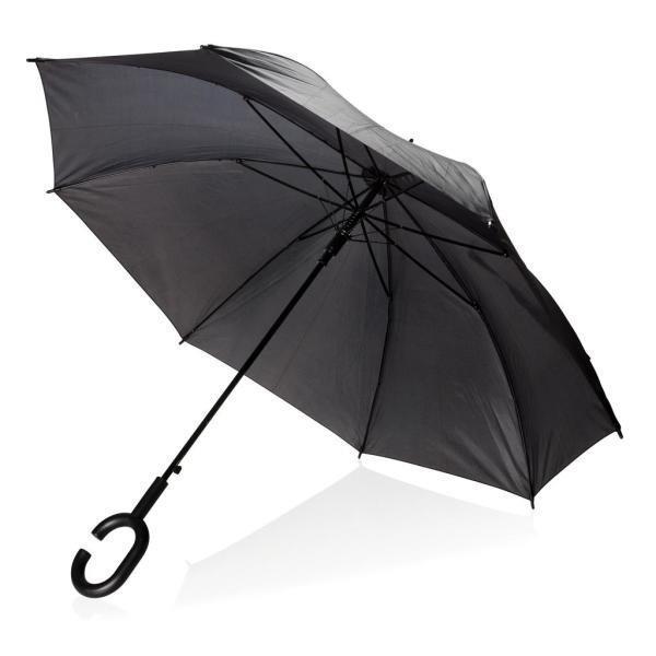 23inch handsfree paraplu, zwart