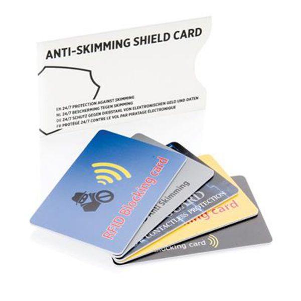 Anti Skimming Beschermkaart XIMA Wit Pasjes