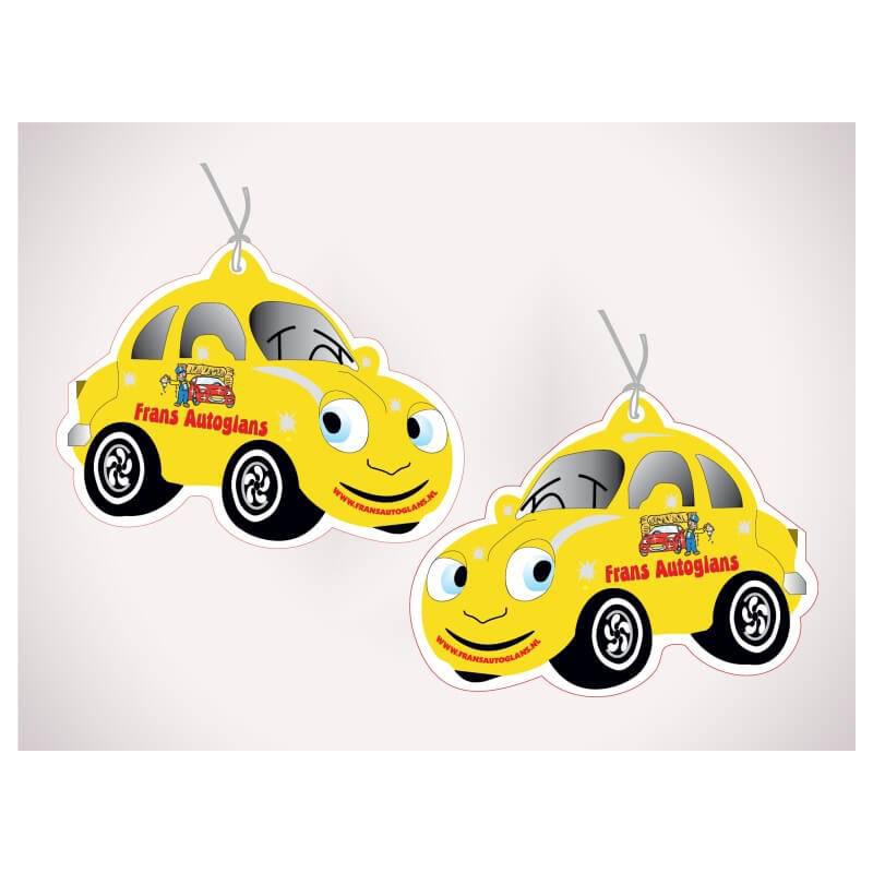 Auto geurhanger met logo bedrukking