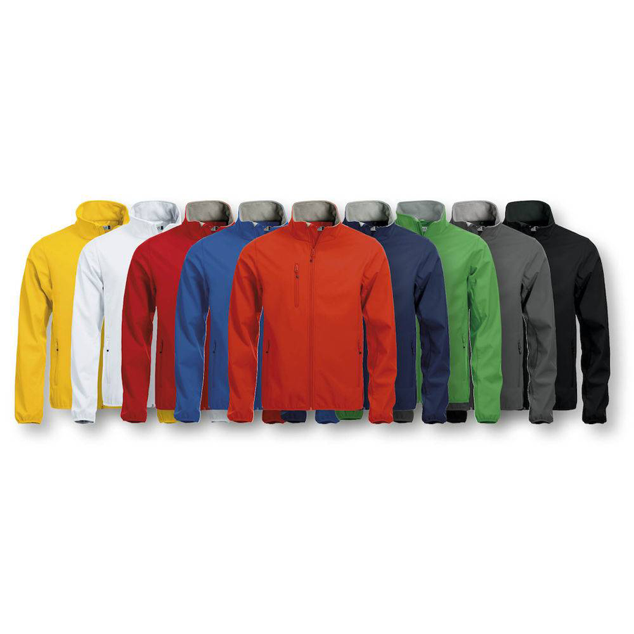 Basic Softshell -/ Heren Jacket  met logo bedrukking