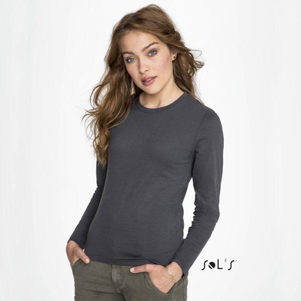 Bedrukt T-shirt met lange mouwen Sol's Imperial LSL