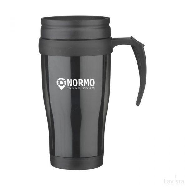 Bedrukte ThermoDrink thermobeker (450 ml.) met logo