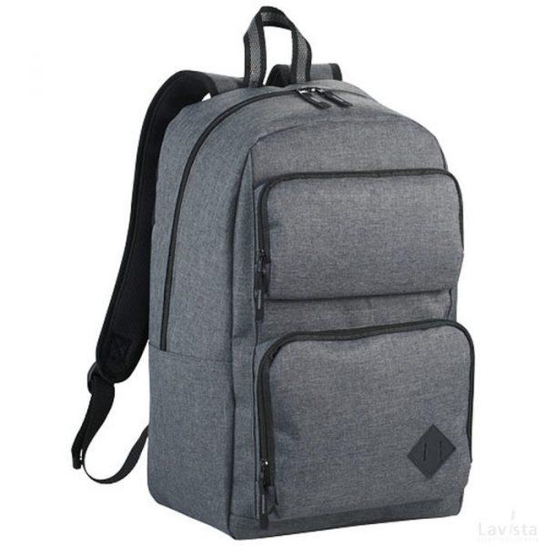 Bedrukte goedkope Graphite deluxe 15.6 laptop rugzak met logo