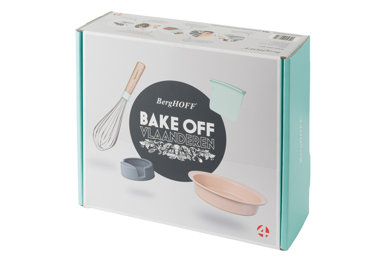 BergHOFF partner Bake Off Vlaanderen en de Bake Off-box