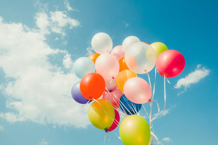 Groene-ballonnen