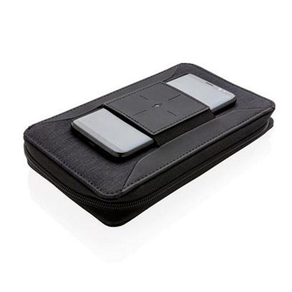 Modern Reisetui Draadloze Oplader XIMA Zwart Met Telefoon