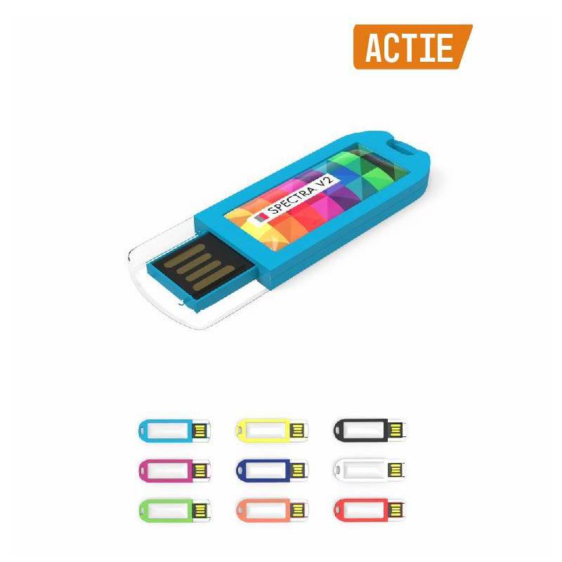USB Stick Spectra met logo bedrukking