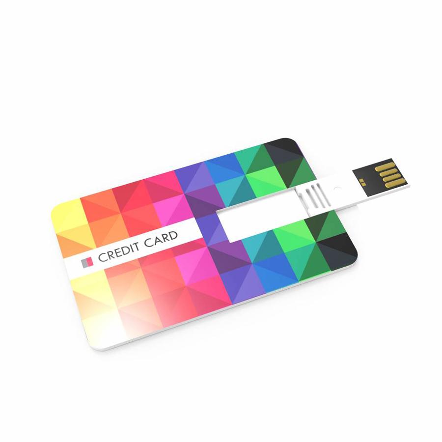 USB stick credit card met logo bedrukking