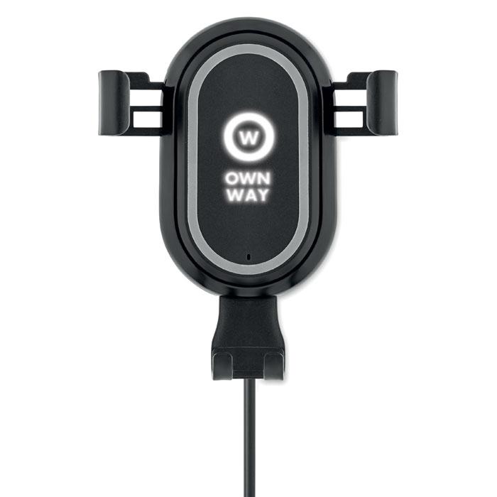 Chargeur sans fil Mount car avec logo lumineux
