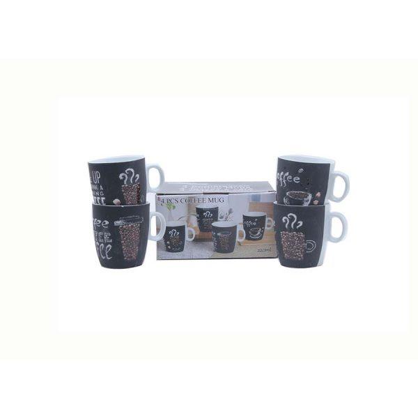 Bekers voor koffie 220 ml - 4 dlg