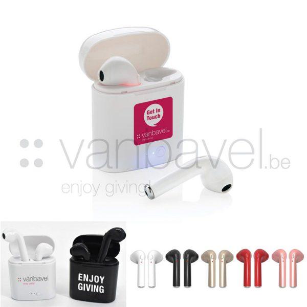 Bluetooth wireless oordoppen in case