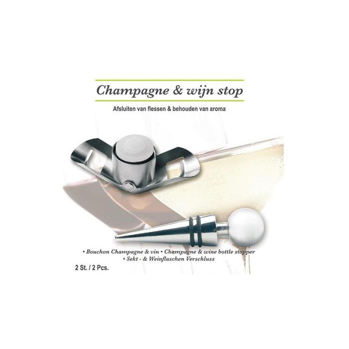 Champagne-en wijnstop 2-dlg