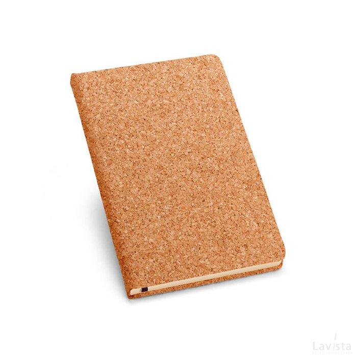 Goedkoop bedrukt notitieboekje Naturel met logo