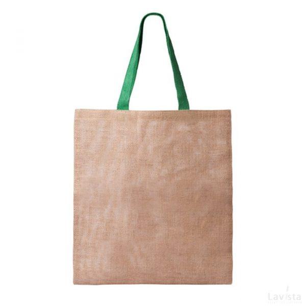 Goedkope jute shopper met logo