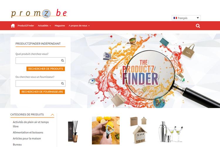 Productzfinder moteur de recherche sur promz.be