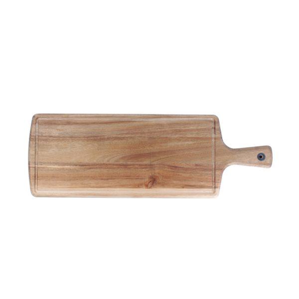 Serveerplank 58x20cm rechth.+greep Wood&Food