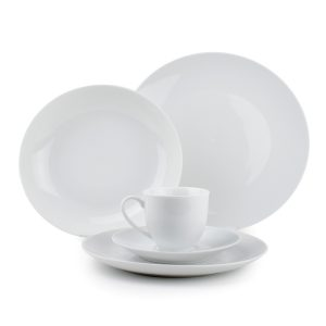 Tafelservies 30dlg coupe wit rond Basic White